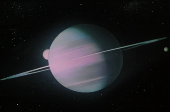 The planet Saturn - opening scene (screen cap courtesy filmovizia.blogspot.com)