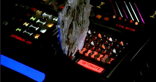 Hector remotely detonates the shuttle.