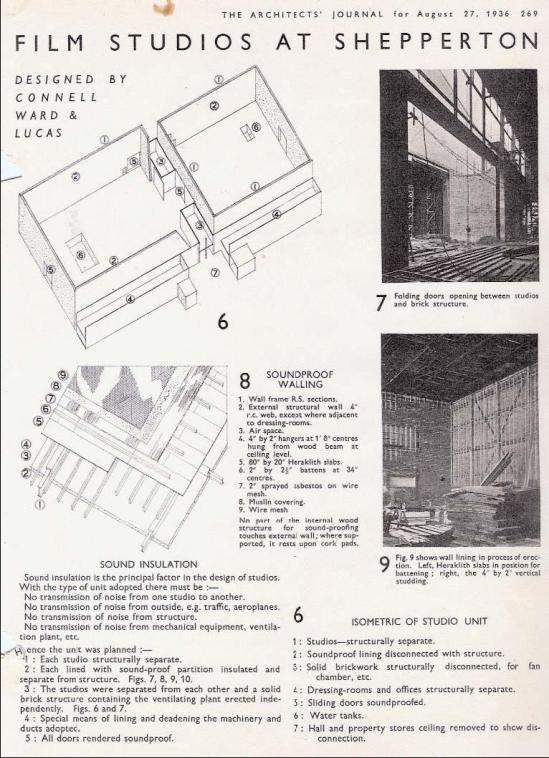 shepperton original stages architects journal